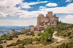 Castelo de Loarre na Espanha fotografia de stock royalty free