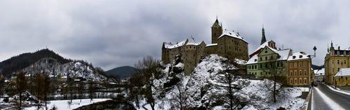 Castelo de Loket em Czechia Imagens de Stock Royalty Free