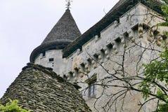 Castelo de Losse em Thonac no Dordogne fotografia de stock