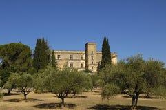 Castelo de Lourmarin, d'Azur da costa de Provence Alpes, França Imagem de Stock