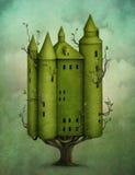 Castelo de madeira ilustração do vetor