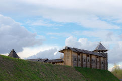 Castelo de madeira antigo Imagem de Stock
