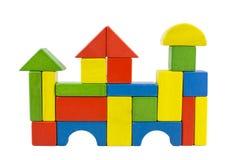 Castelo de madeira dos blocos Foto de Stock