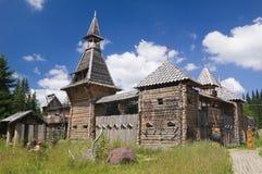 Castelo de madeira feericamente Fotos de Stock Royalty Free