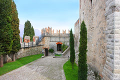 Castelo de Malcesine Italy Fotos de Stock