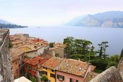 Castelo de Malcesine Italy Fotografia de Stock