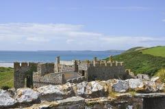 Castelo de Manorbier Fotos de Stock Royalty Free