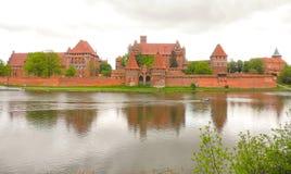 Castelo de Marienburg no Polônia Fotos de Stock