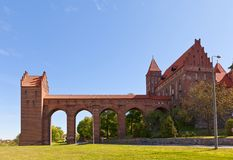 Castelo de Marienwerder (1350) da ordem Teutonic Kwidzyn, Polônia Imagem de Stock Royalty Free