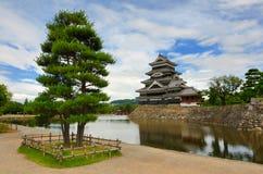 Castelo de Matsumoto em Matsumoto, Japão Imagem de Stock