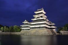 Castelo de Matsumoto em Matsumoto, Japão Fotos de Stock Royalty Free