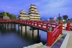 Castelo de Matsumoto em Matsumoto, Japão Fotografia de Stock Royalty Free