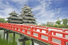 Castelo de Matsumoto na cidade de Matsumoto, Japão fotos de stock