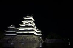 Castelo de Matsumoto na noite Foto de Stock Royalty Free