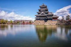 Castelo de Matsumoto, Nagano, Japão Fotografia de Stock