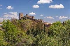 Castelo de Mertola, região do Alentejo de Portugal fotos de stock royalty free