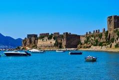 Castelo de Methoni, Peloponnese ocidental, Grécia fotos de stock royalty free