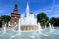 Castelo de Milão - de Castello Sforzesco Imagem de Stock Royalty Free