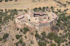 Castelo de Miraflores Alconchel, Extremadura, Espanha Imagem de Stock