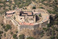 Castelo de Miraflores Alconchel, Extremadura, Espanha Montanha de Alor Imagem de Stock Royalty Free