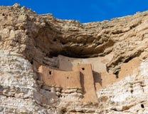 Castelo de Montezuma no acampamento Verde o Arizona EUA imagem de stock