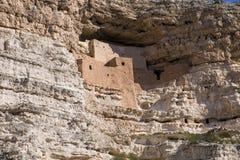 Castelo de Montezuma no lado do penhasco Imagem de Stock