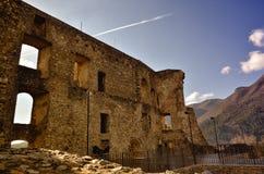 Castelo de Morano Calabro, parque nacional de Pollino, Itália Fotografia de Stock