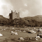 Castelo de Moy, tom do sepia Fotos de Stock