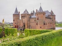 Castelo de Muiderslot nos Países Baixos no dia nacional do castelo Foto de Stock