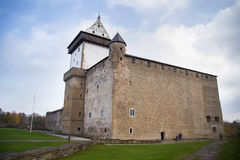 Castelo de Narva, Estónia Foto de Stock Royalty Free