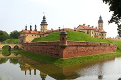 Castelo de Nesvizh belarus Fotografia de Stock Royalty Free