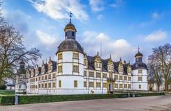 Castelo de Neuhaus em Paderborn, Alemanha imagem de stock