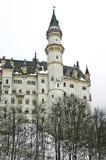 Castelo de Neuschwanstein durante o inverno Fotografia de Stock Royalty Free