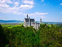 Castelo de Neuschwanstein em Baviera, Alemanha Fotografia de Stock