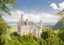 Castelo de Neuschwanstein no sudoeste Baviera, Alemanha Fotos de Stock