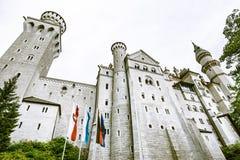 Castelo de Neuschwanstein - palácio românico do século XIX do renascimento imagens de stock