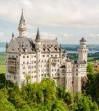 Castelo de Neuschwanstein situado perto de Fussen no sudoeste Baviera, Alemanha Fotografia de Stock