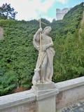 Castelo de Nitra - detalhe da estátua Imagens de Stock