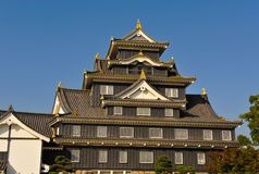 Castelo de Okayama Imagem de Stock Royalty Free