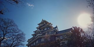 Castelo de Okayama japão imagem de stock royalty free
