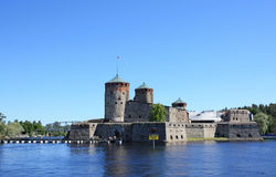 Castelo de Olavinlinna Fotografia de Stock Royalty Free