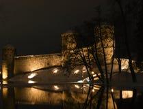 Castelo de Olavinlinna Fotos de Stock Royalty Free