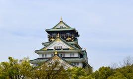 Castelo de Osaka em Japão um local do patrimônio mundial do UNESCO Fotografia de Stock Royalty Free