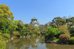 Castelo de Osaka, Japão Fotos de Stock Royalty Free