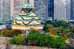 Castelo de Osaka, Japão Fotografia de Stock