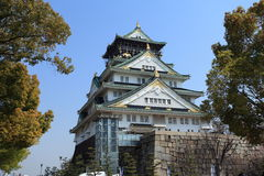 Castelo de Osaka, Japão Imagem de Stock Royalty Free