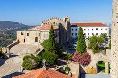 Castelo DE Palmela Castle met Historisch Hotel van Pousadas DE Portugal royalty-vrije stock afbeeldingen