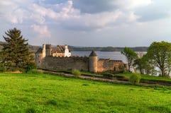 Castelo de Parkes no lago Fotos de Stock