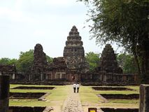 Castelo de pedra de Phimai, Tailândia Imagem de Stock