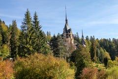 Castelo de Peles em Sinaia foto de stock royalty free